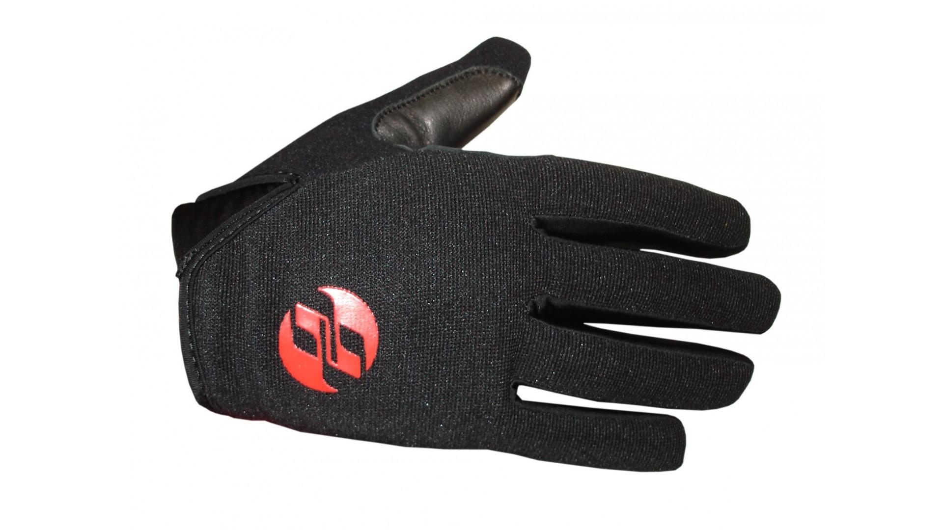 Велоперчатки Ghost c длинными пальцами AM black год 2016