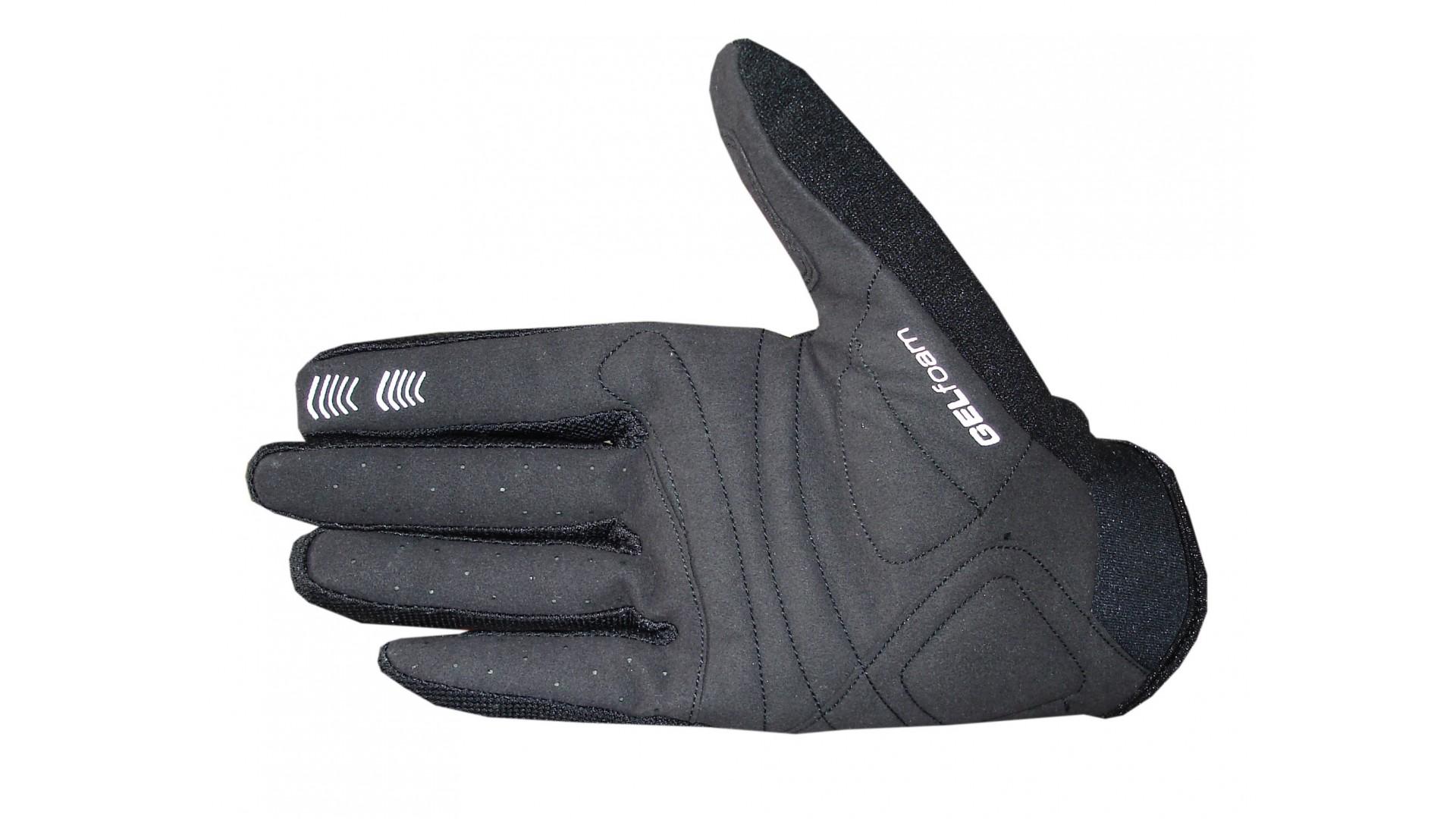 Велоперчатки Ghost c длинными пальцами black/green/white год 2014