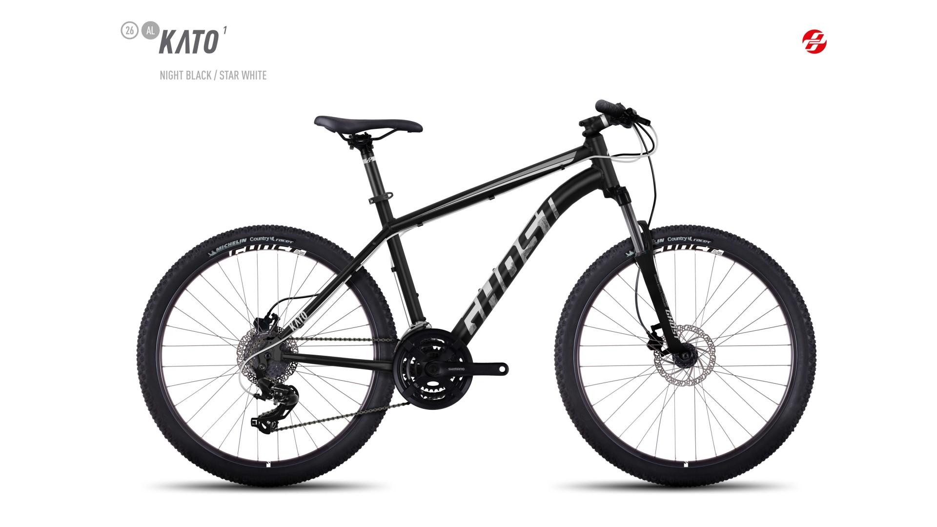 Велосипед GHOST Kato 1 AL 26 nightblack/starwhite год 2017