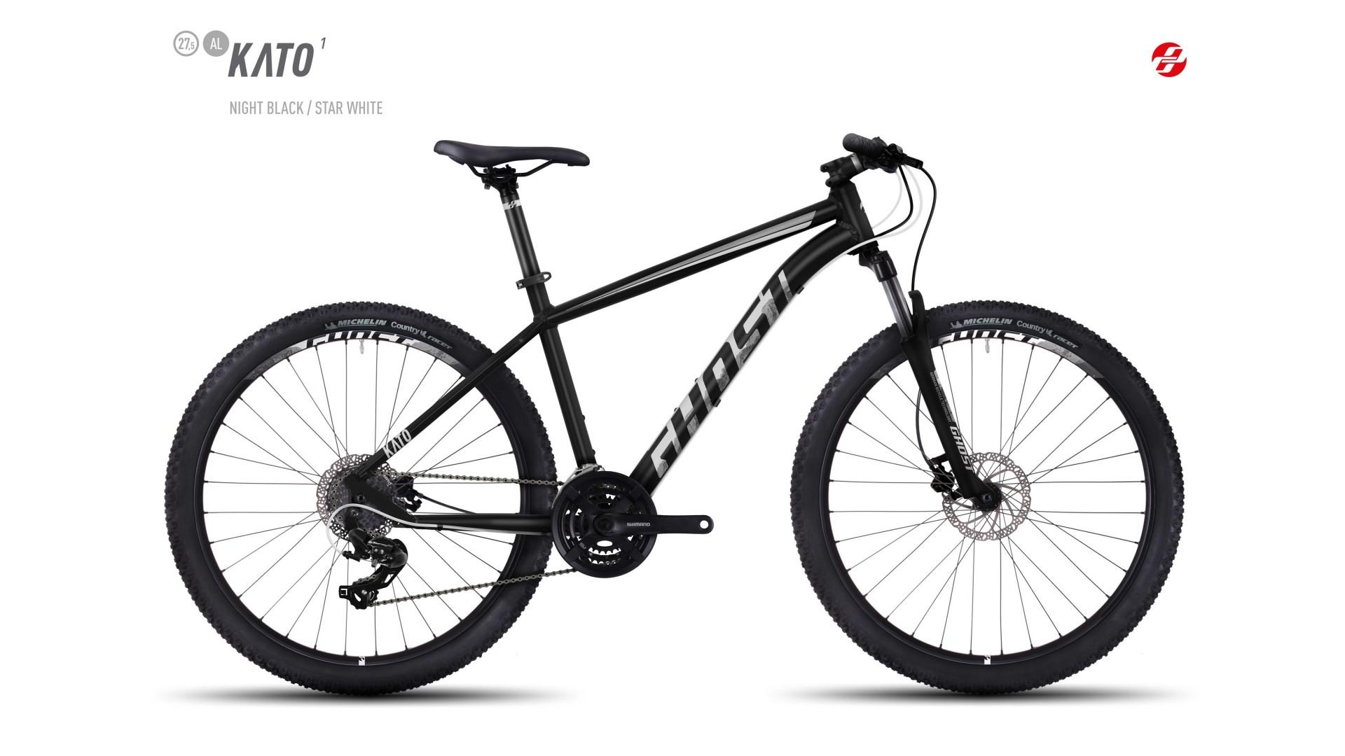 Велосипед GHOST Kato 1 AL 27.5 nightblack/starwhite год 2017