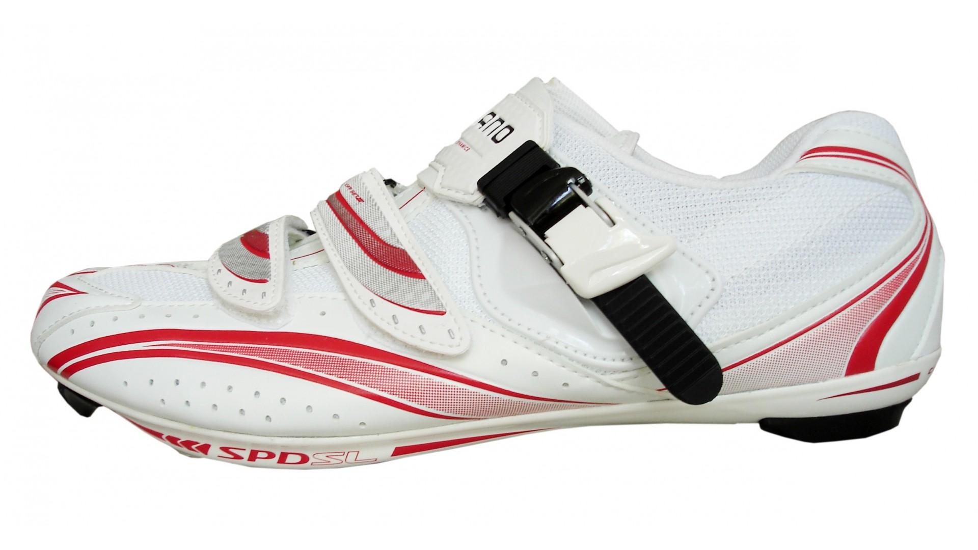 Велотуфли Shimano SH-R106 красно-белые шоссе