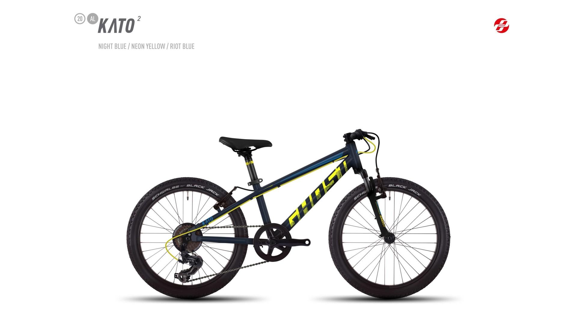 Велосипед GHOST Kato 2 AL 20 nightblue/neonyellow/riotblue год 2017