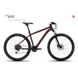 Велосипед GHOST Kato 3 AL 27.5 marsalared/cranberryred/jadeblue год 2017