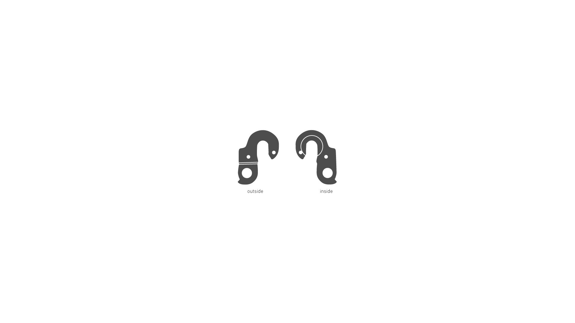 Крюк GHOST EZ1851 под 2 болта с резьбой внутренний