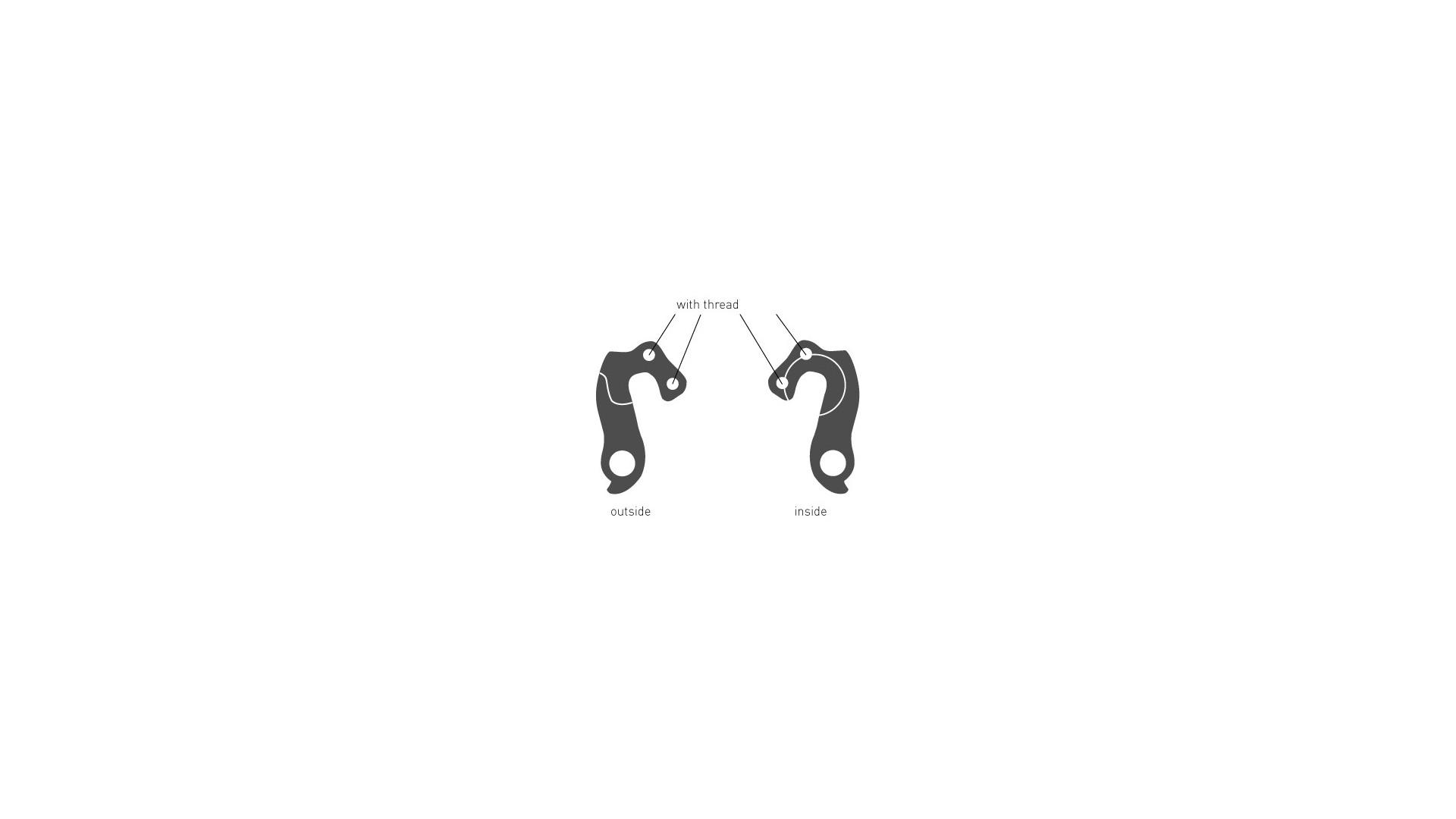 Крюк GHOST EZ1822 под 2 болта с резьбой внутренний