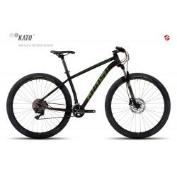 Велосипед GHOST Kato 7 AL 29 nightblack/riotgreen/neonred год 2017