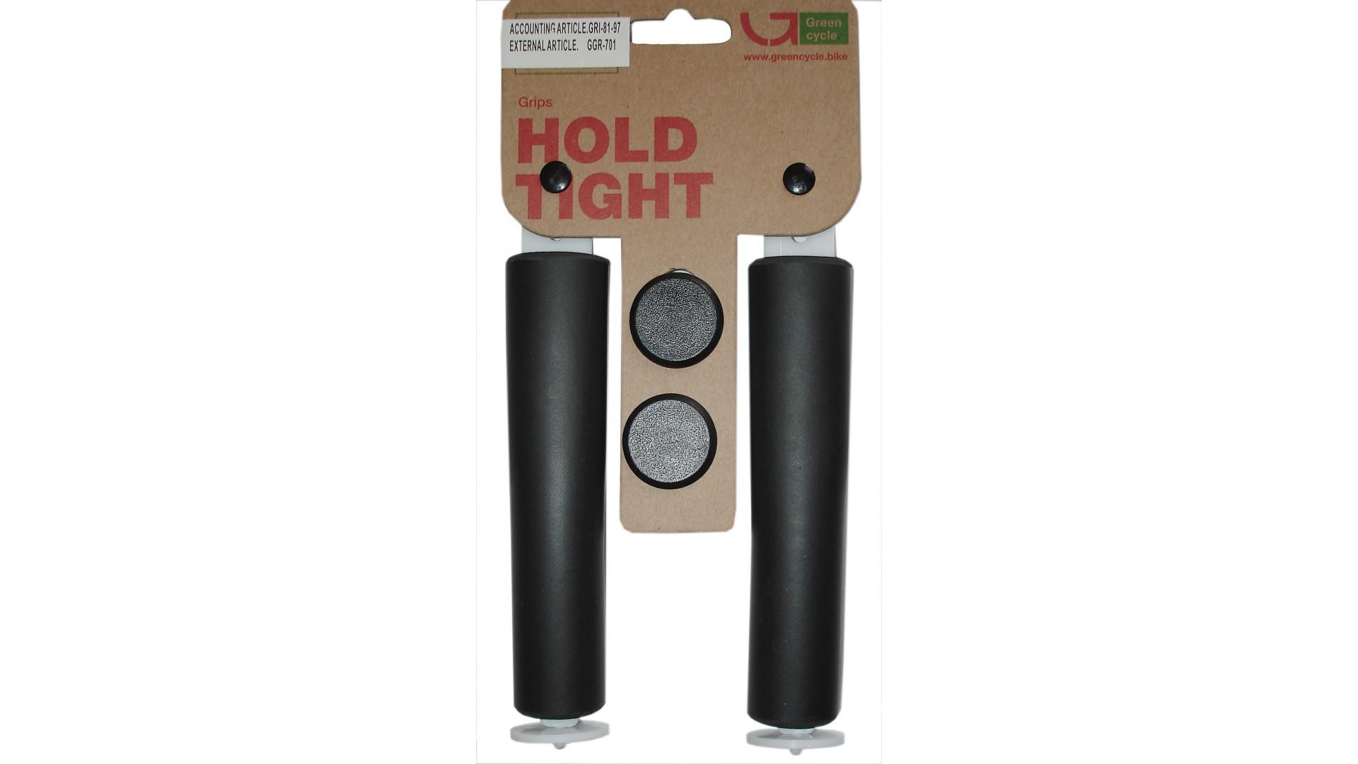 Грипсы  Green Cycle GC-SGR001 130mm силиконовые черные