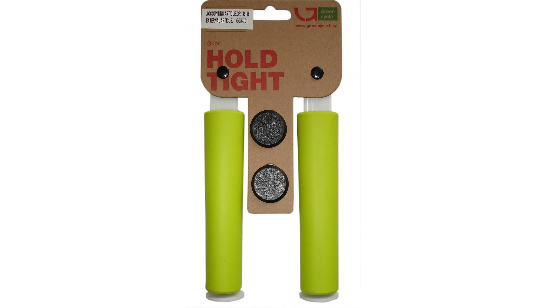 Грипсы Green Cycle GC-SGR001 130mm силиконовые зеленые