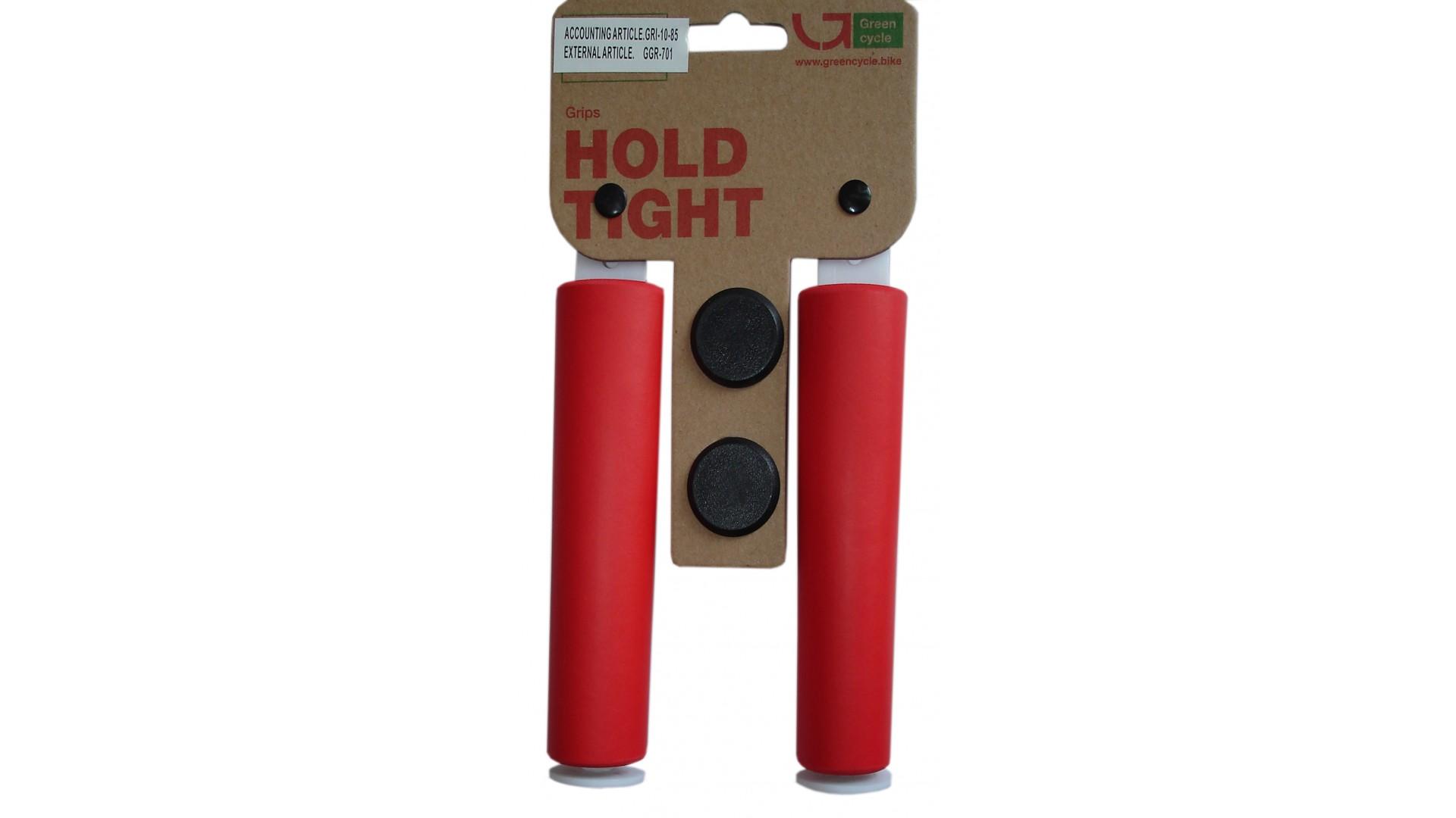 Грипсы  Green Cycle GC-SGR001 130mm силиконовые красные