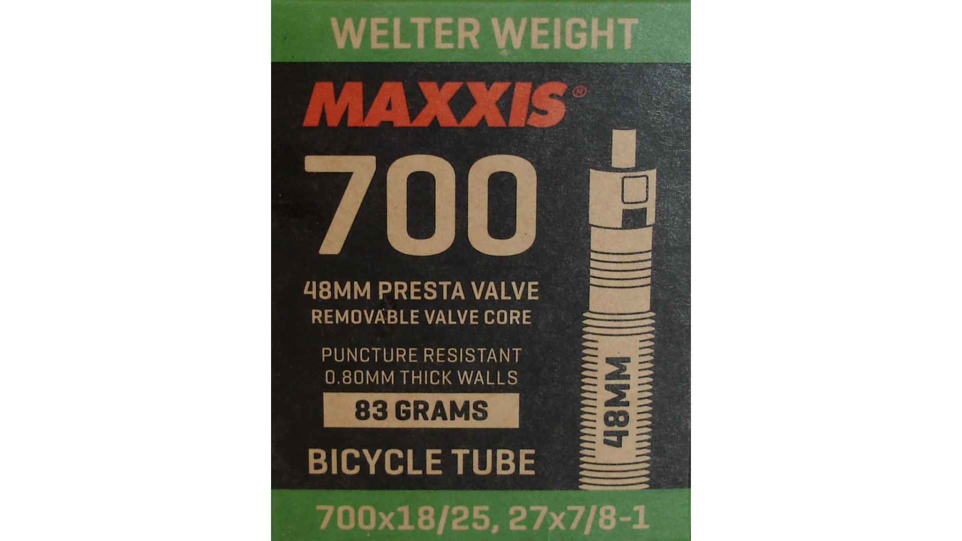 Камера Maxxis 700x18/25C, Welter Weight FV 60мм