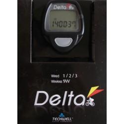 Велокомпьютер TECHWELL Delta-9W черн. 9F б/пров.