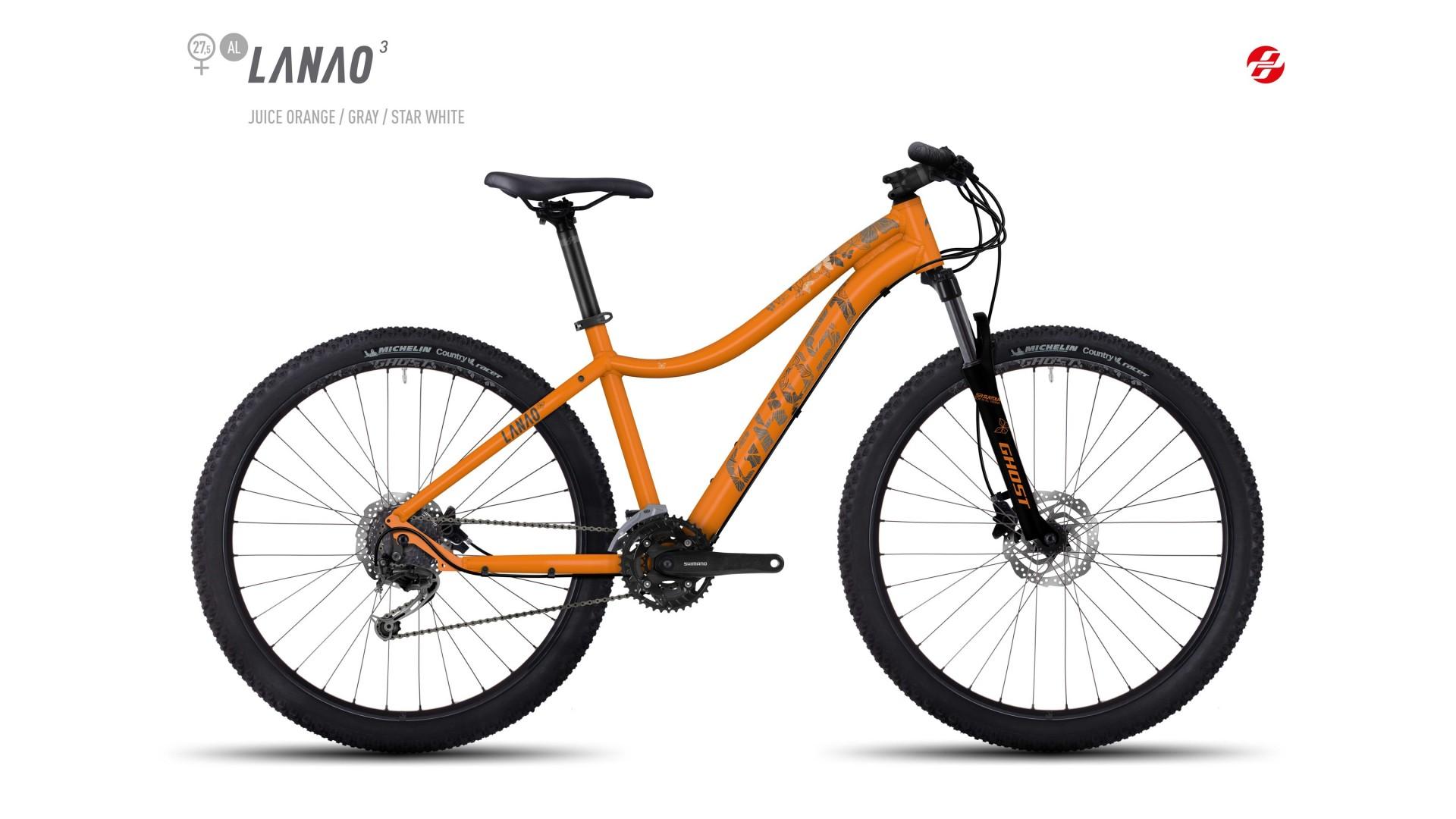 Велосипед GHOST Lanao 3 AL 27.5 juiceorange/grey/starwhite год 2017