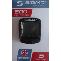 Велокомпьютер Sigma Baseline BC 500  серебр.-черн.