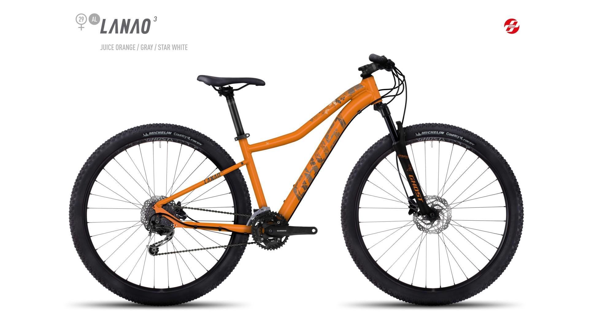 Велосипед GHOST Lanao 3 AL 29 juiceorange/grey/starwhite год 2017