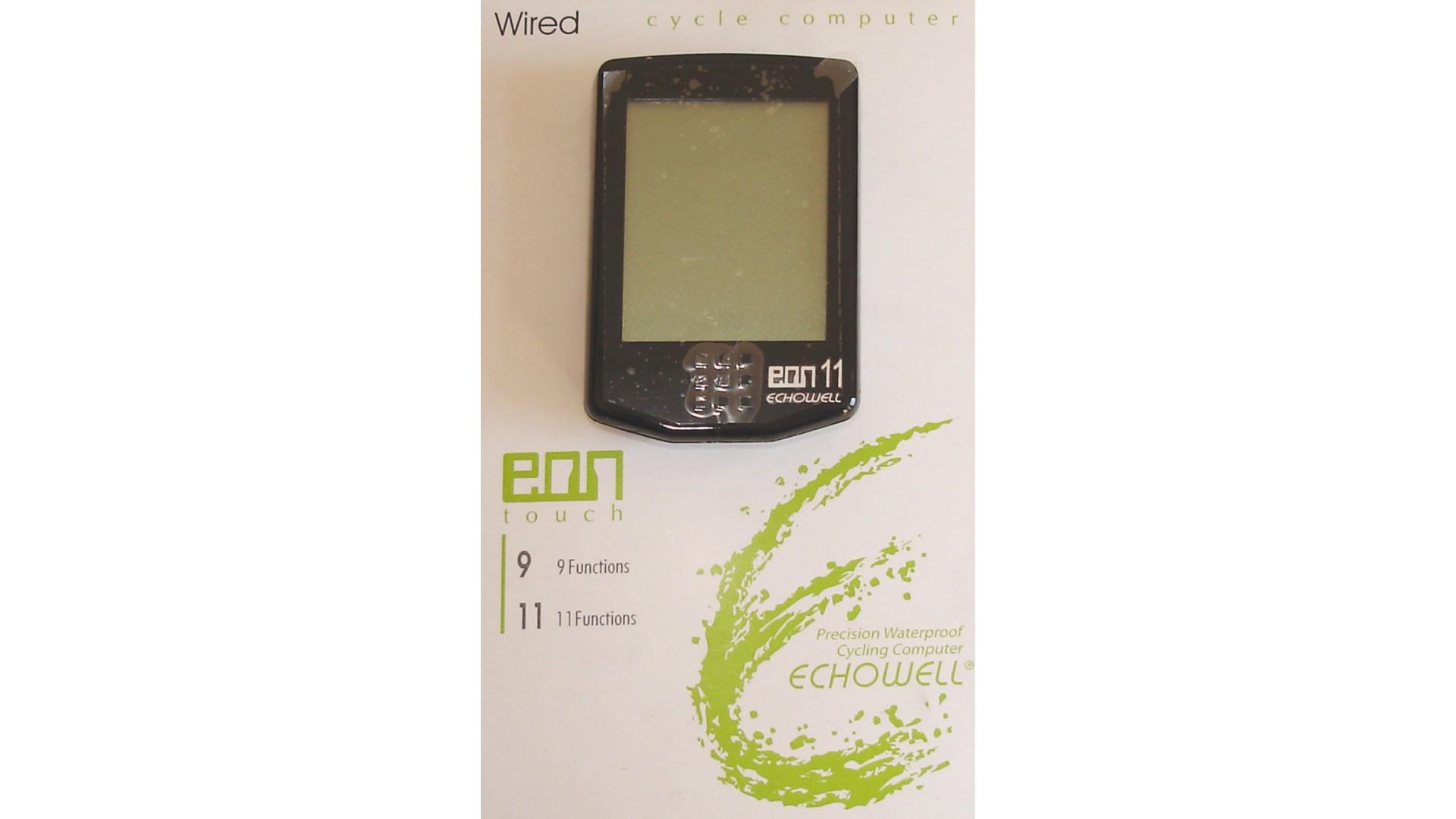 Велокомпьютер Echowell EON-11, 11 функций,сенсорный дисплей,черный