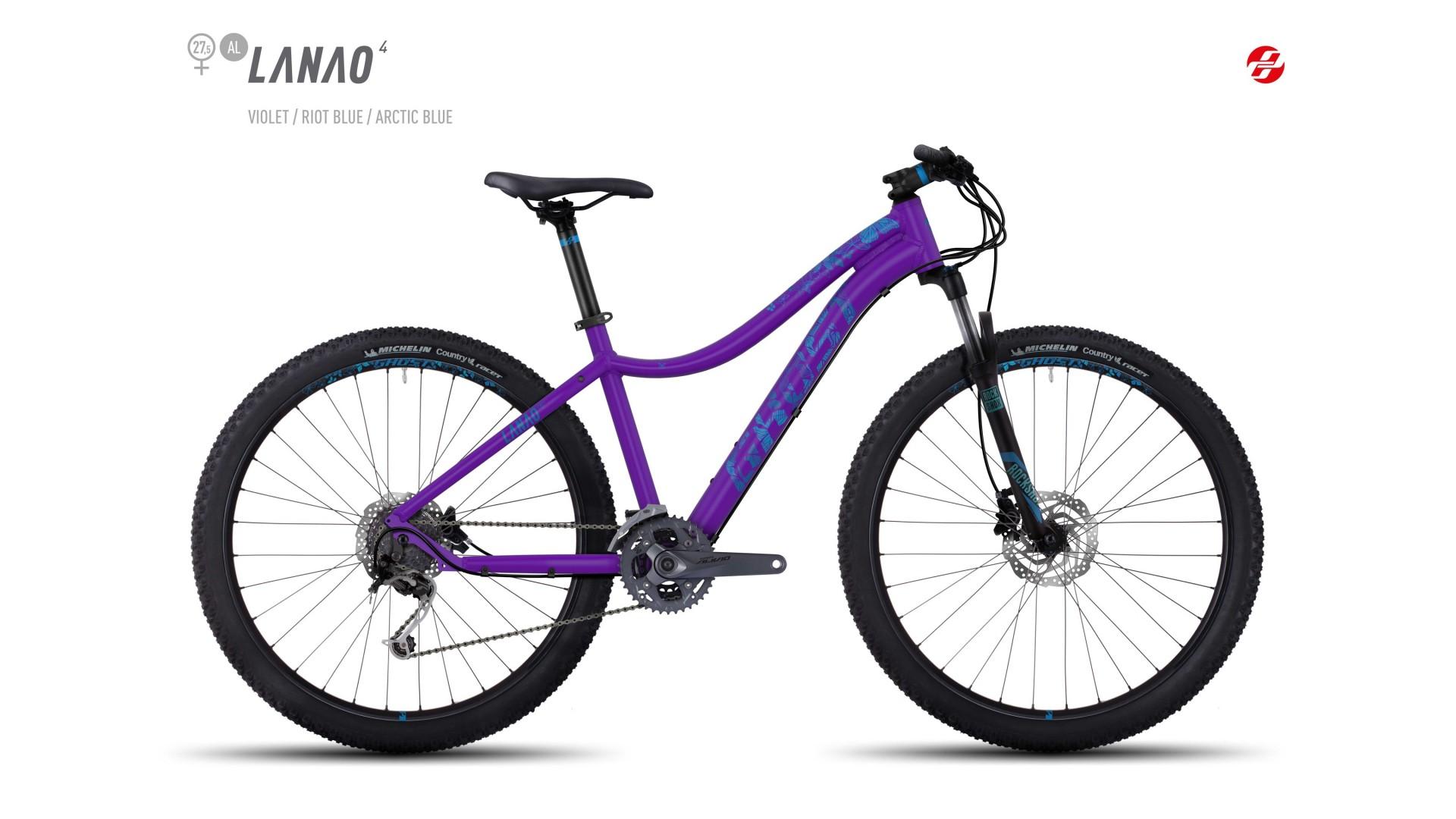 Велосипед GHOST Lanao 4 AL 27.5 violet/riotblue/arcticblue год 2017