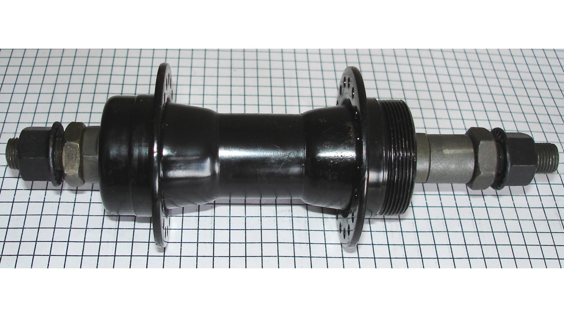 Втулка задн. Quando KT-122R под V-brake 36H 165mm, 6,7 ск. на гайках стальная черн.
