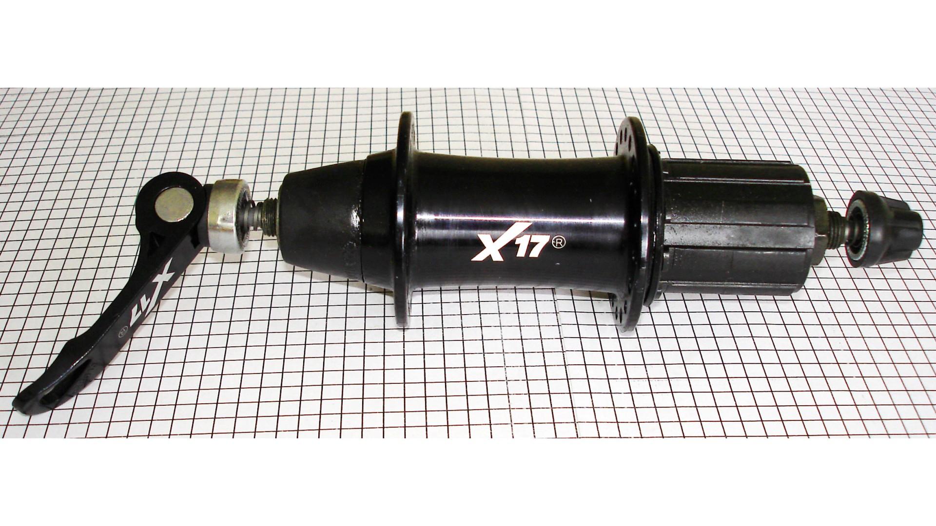 Втулка задняя X17 MTB алюм. кассетн. 8/9ск. 32отв. эксц.+ сальн. черн.