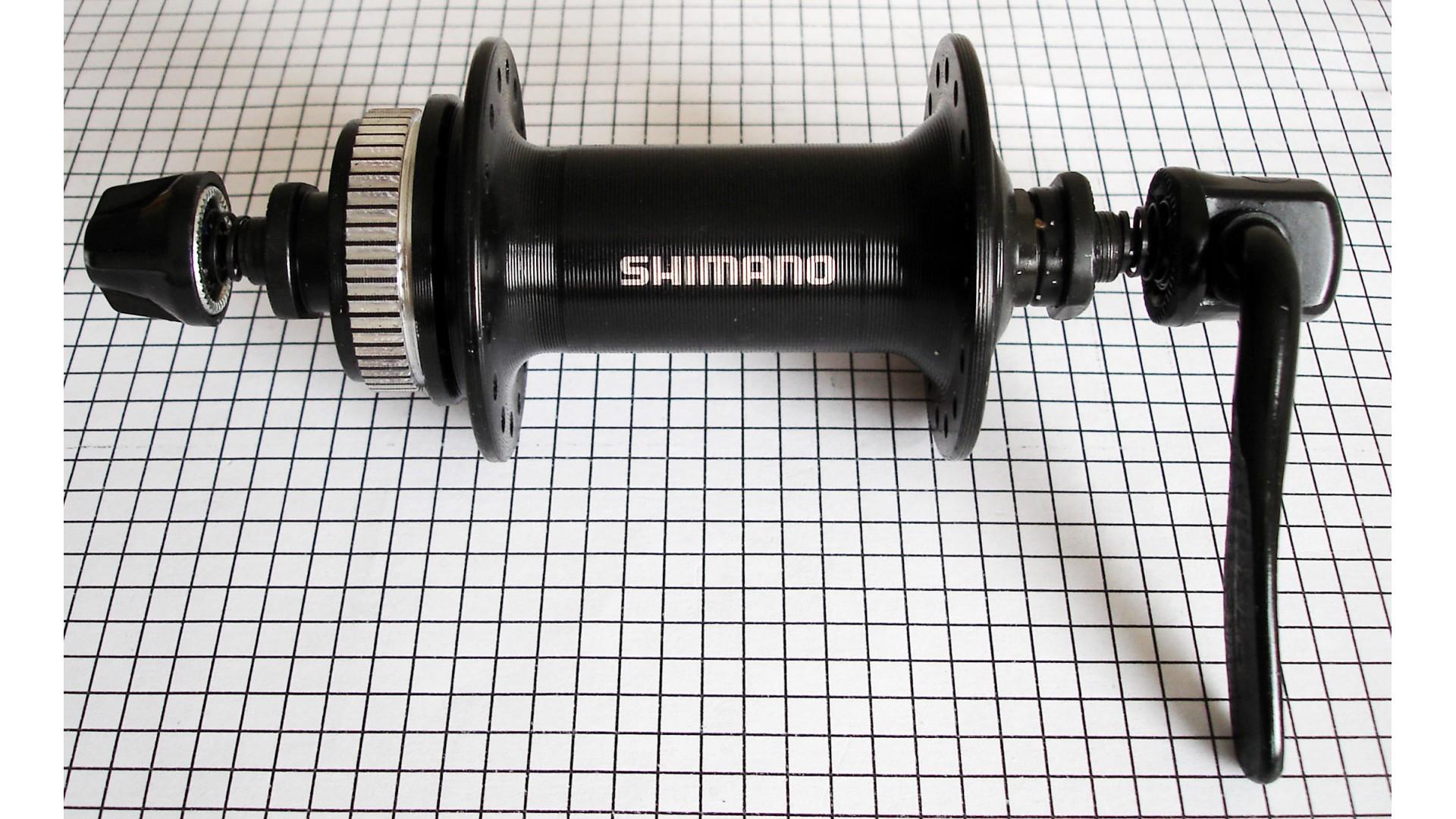 Втулка передняя Shimano HB-TX505 на CenterLock, 32 отв. черная