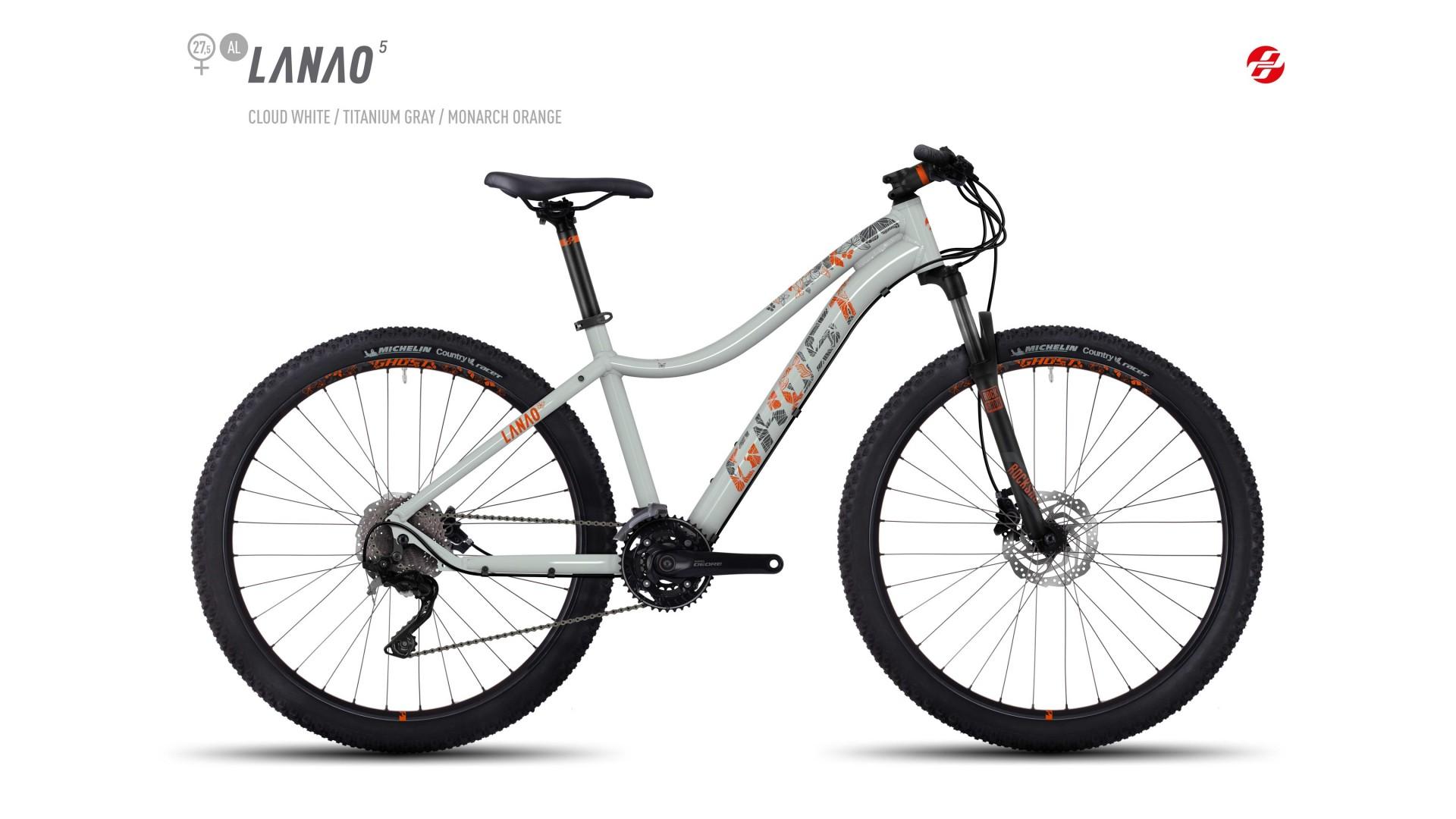 Велосипед GHOST Lanao 5 AL 27.5 cloudwhite/titaniumgrey/monarchorange год 2017