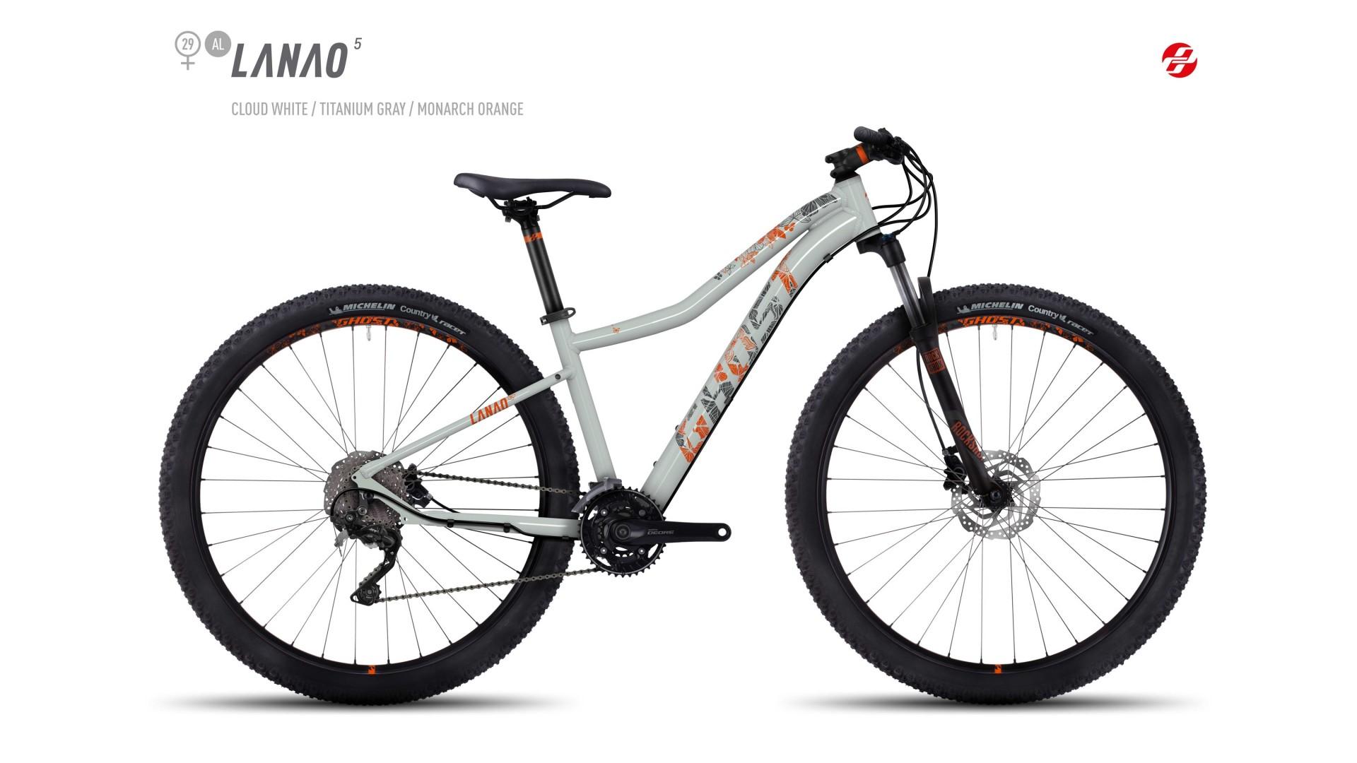 Велосипед GHOST Lanao 5 AL 29 cloudwhite/titaniumgrey/monarchorange год 2017