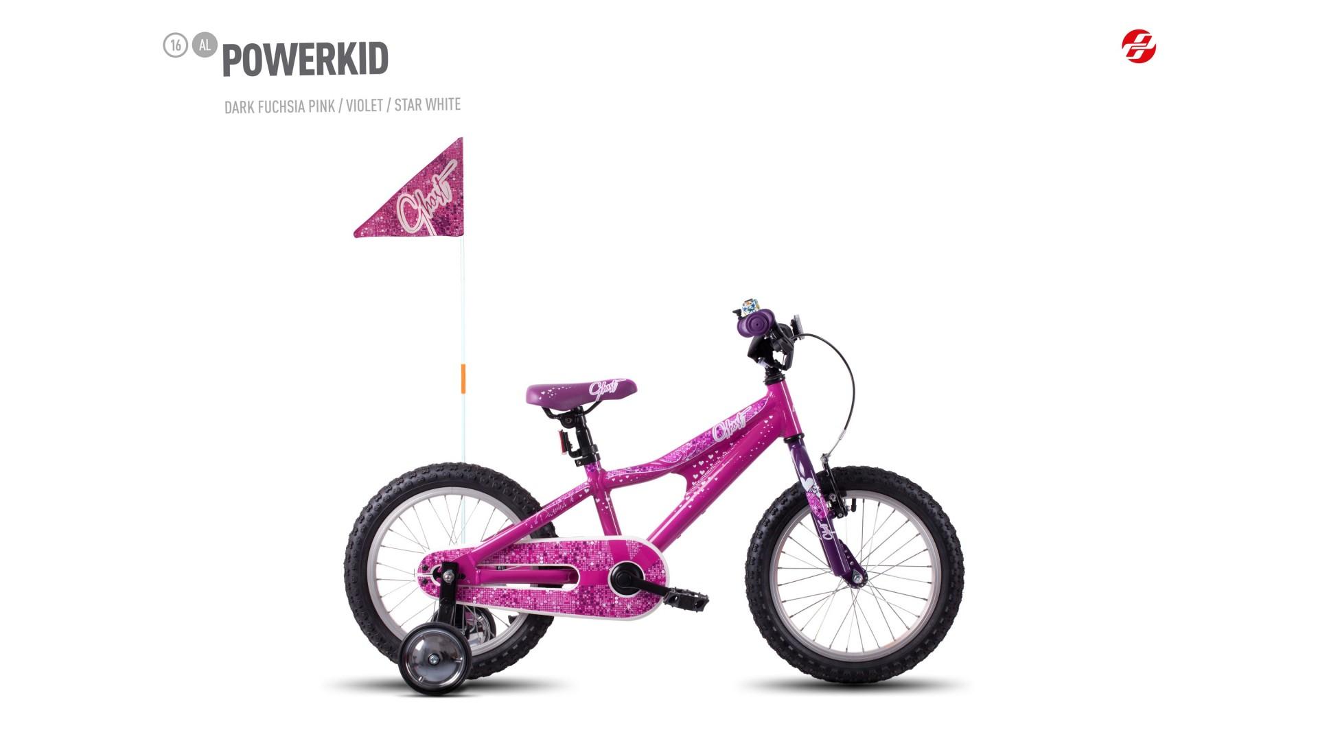 Велосипед GHOST Powerkid 16 AL darkfuchsiapink/violet/starwhite год 2017