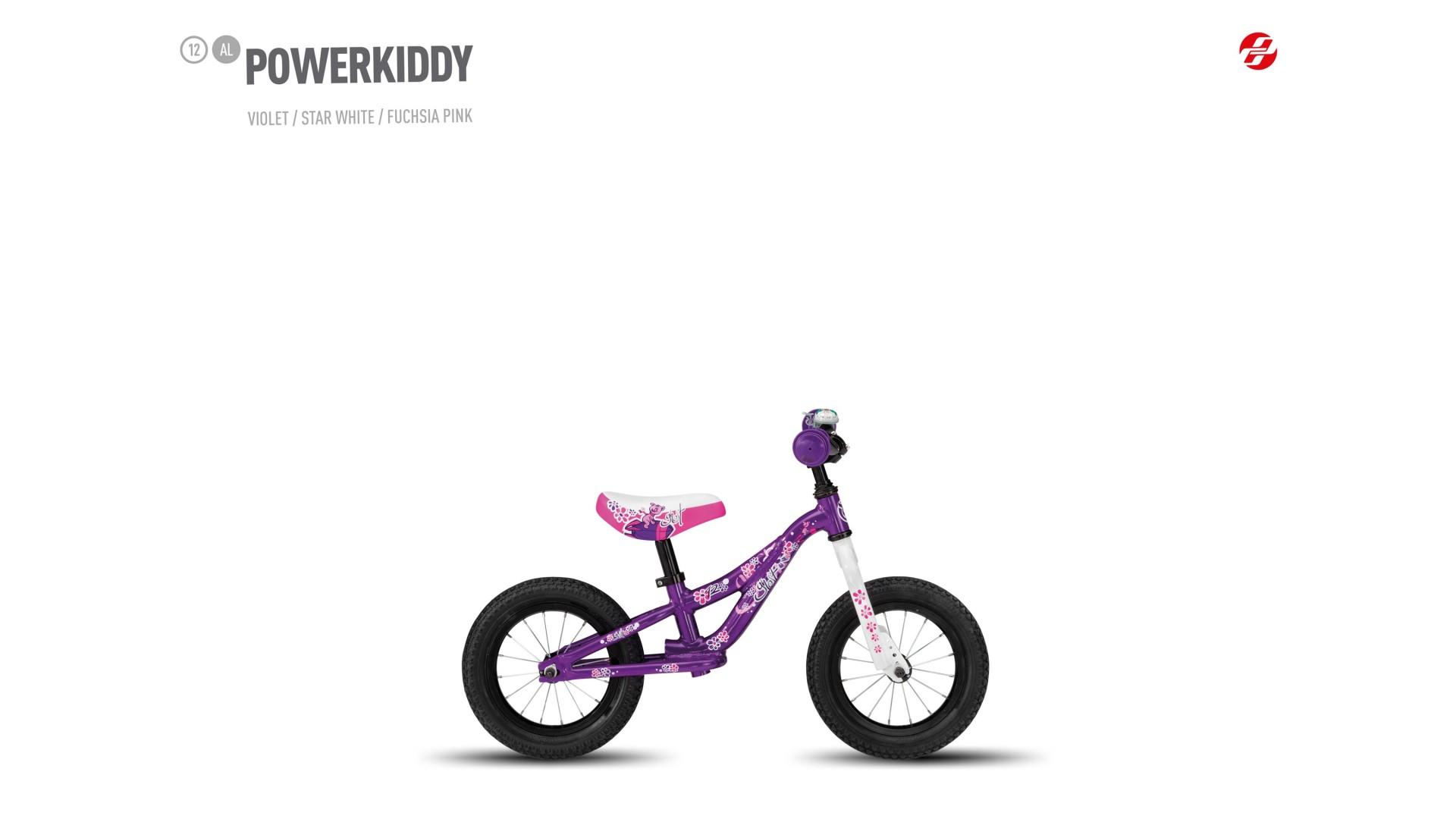 Велосипед GHOST Powerkiddy 12 AL violet/starwhite/fuchsiapink год 2017