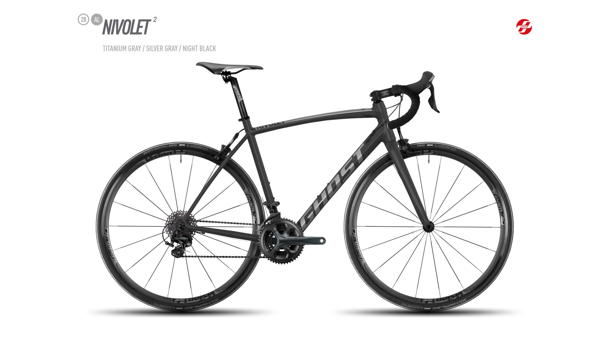 Велосипед GHOST Nivolet 2 AL 28 titaniumgrey/silvergrey/nightblack год 2017