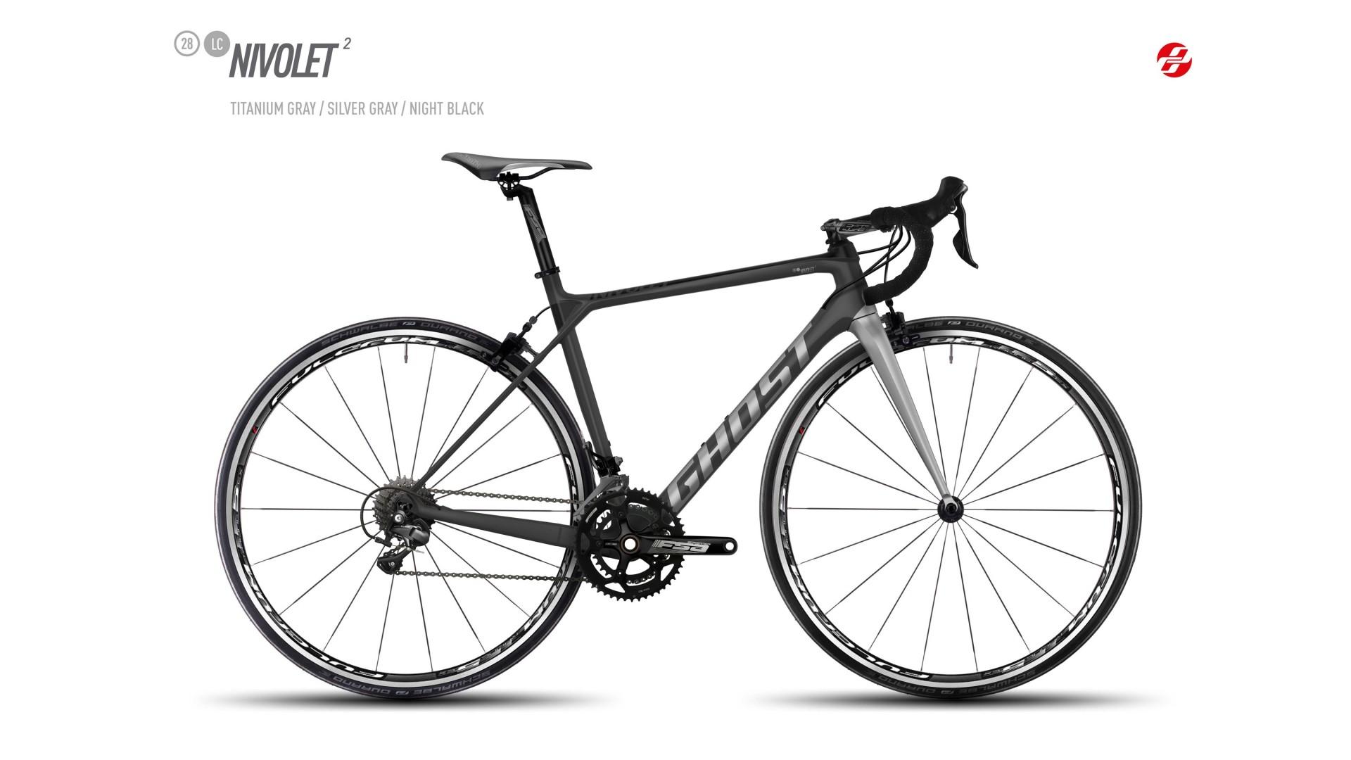 Велосипед GHOST Nivolet 2 LC 28 titaniumgrey/silvergrey/nightblack год 2017