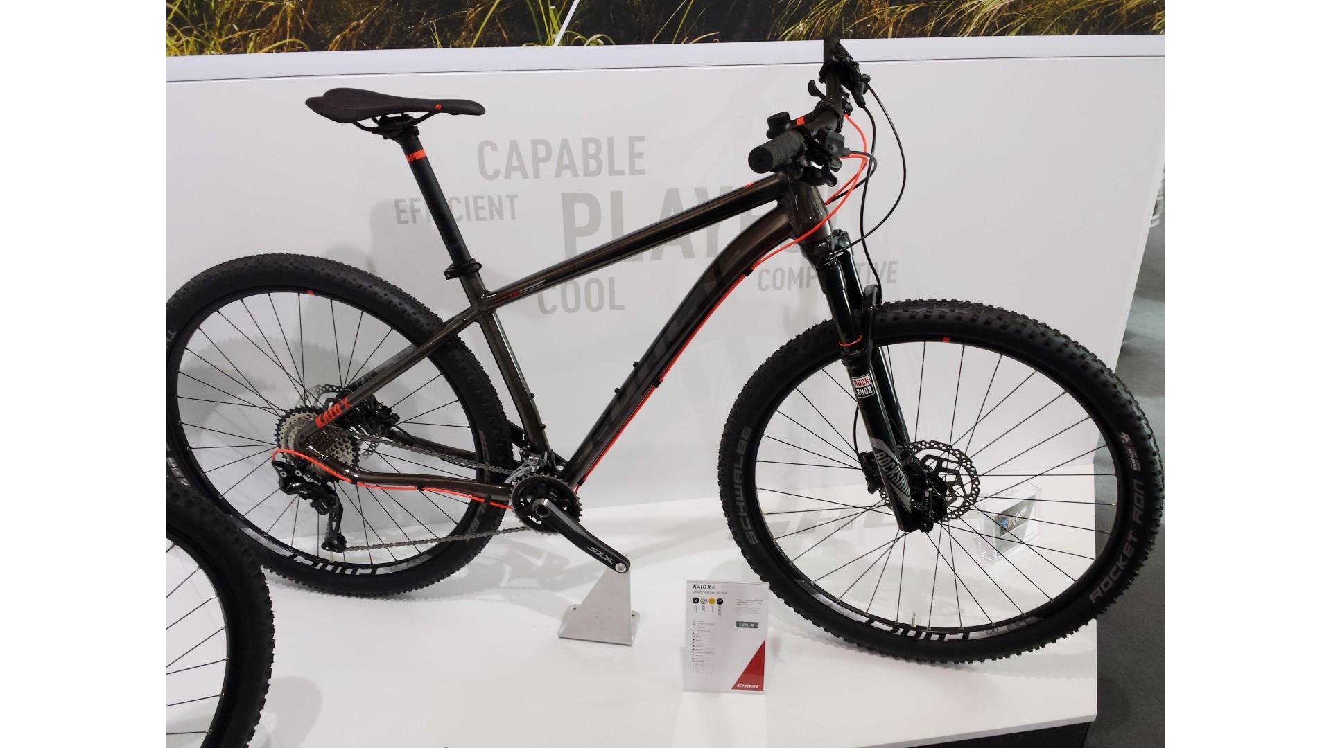 Велосипед GHOST Kato X 6 AL 29 rawalu/silvergrey/neonred год 2017