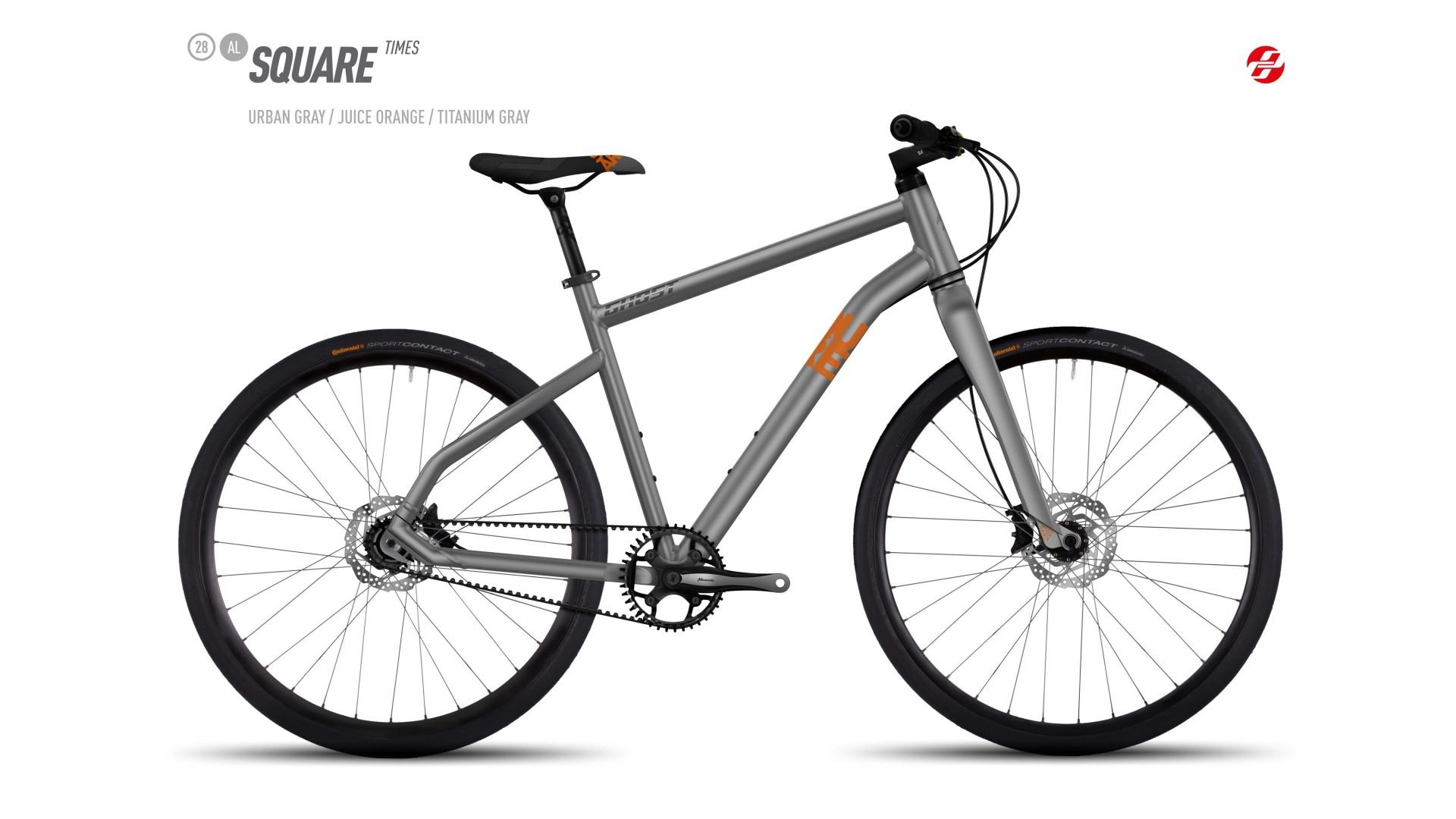 Велосипед GHOST SQUARE Times AL 28 urbangrey/juiceorange/titaniumgrey год 2017