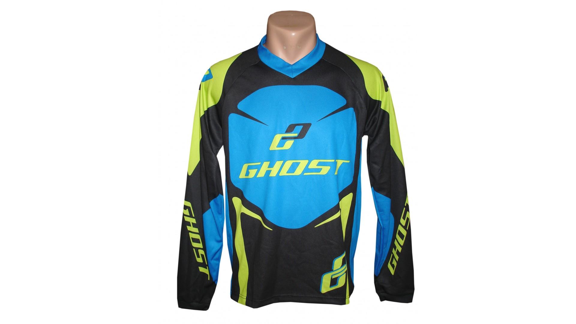 Веломайка Ghost с длинным рукавом black/blue/green год 2014