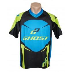 Веломайка Ghost с коротким рукавом black/blue/green год 2014