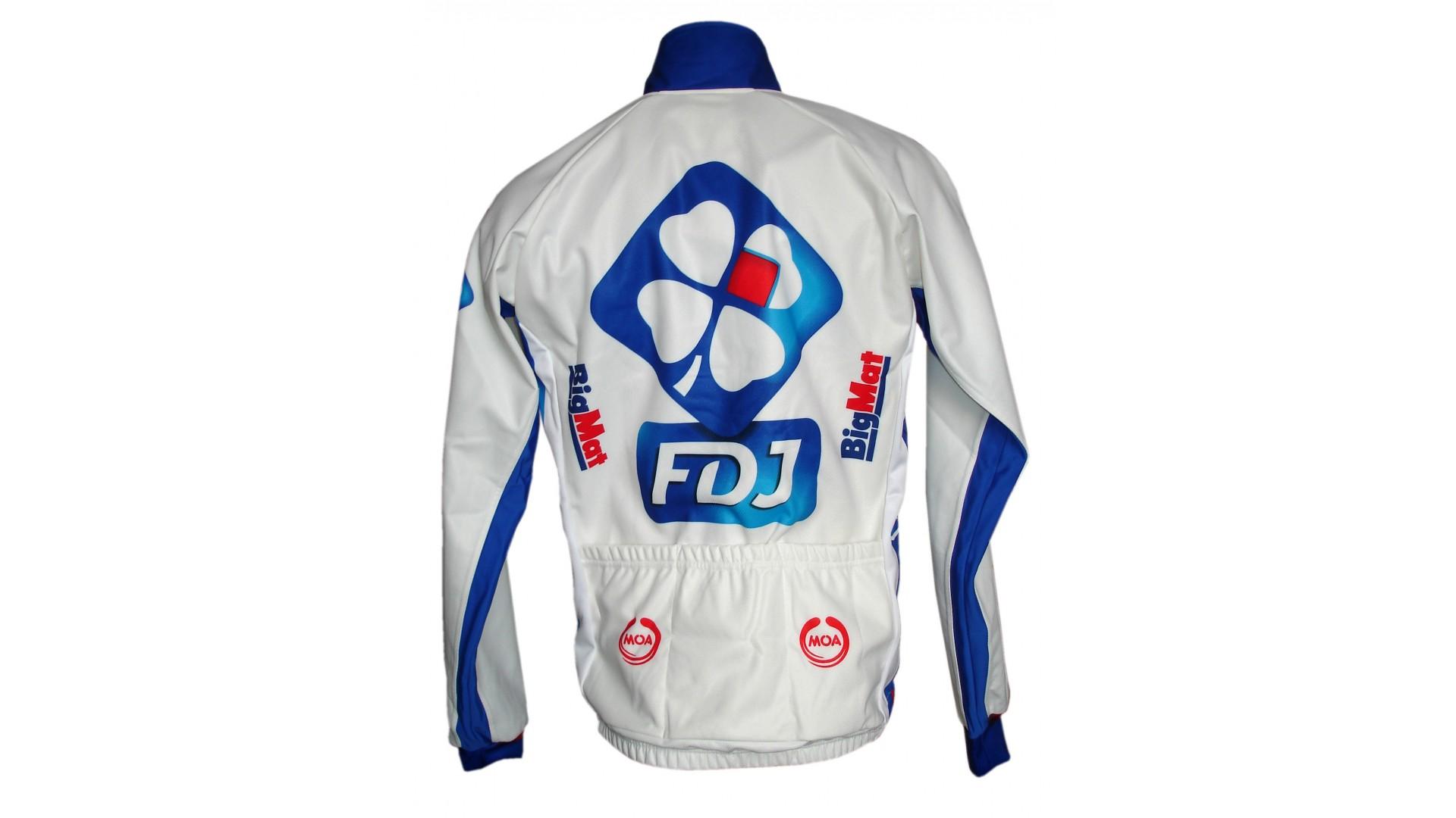 Велокуртка Nalini FDJ-Big Mat зимняя вид сзади
