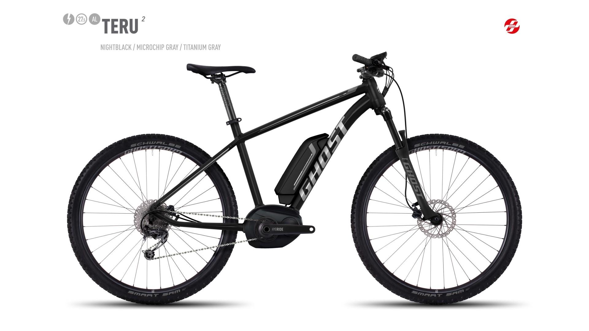 Электровелосипед GHOST Teru 2 AL 27.5 nightblack/microchipgrey/titaniumgrey год 2017