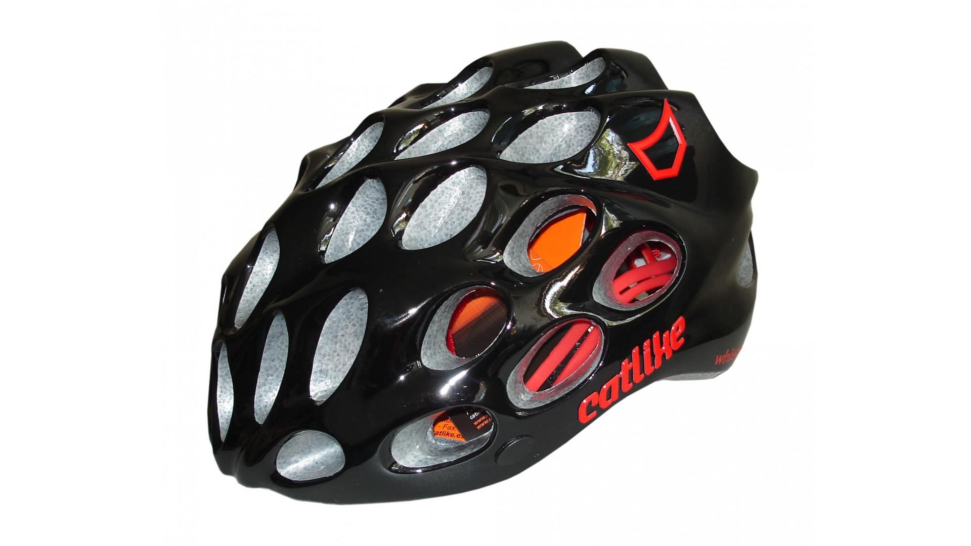 Велошлем Catlike Whisper Plus Deluxe Negro-Rojo