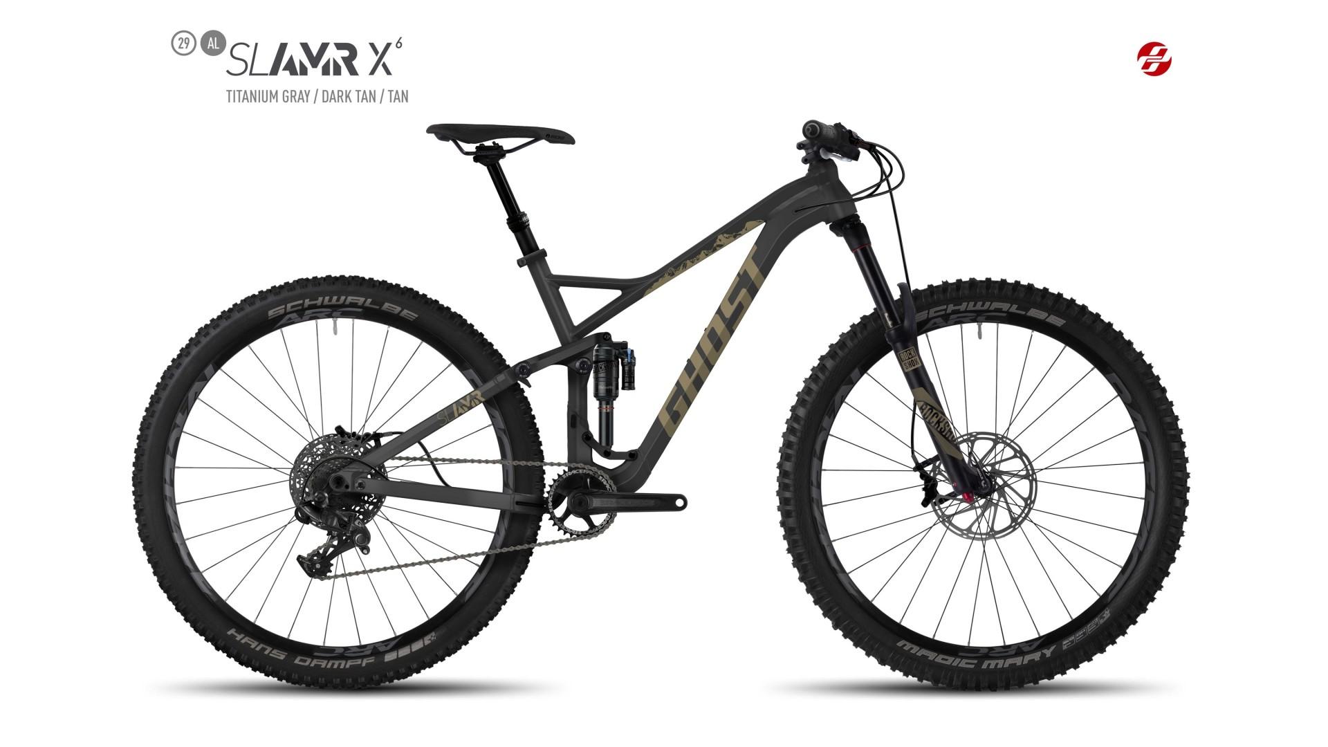 Велосипед GHOST SL AMR X6 AL 29 titaniumgrey/darktan/tan год 2017