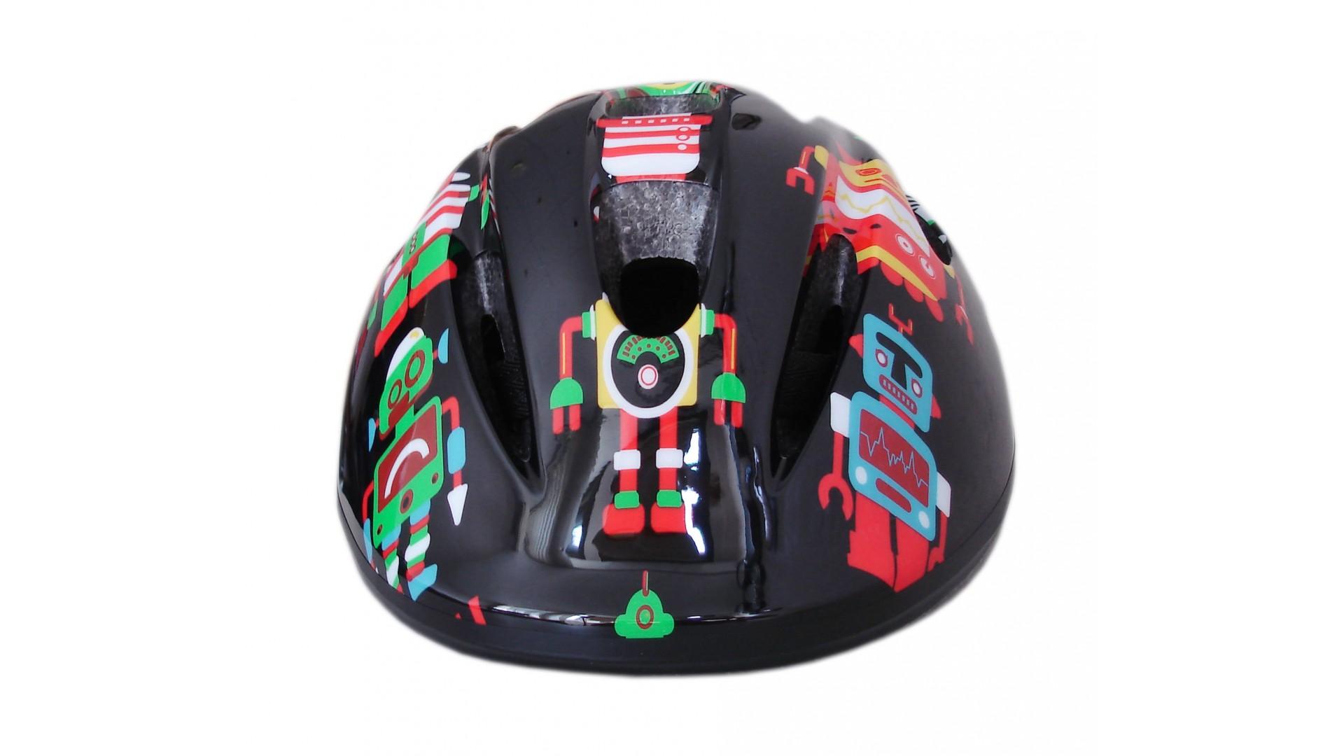 Велошлем детский Green Cycle Robots черный