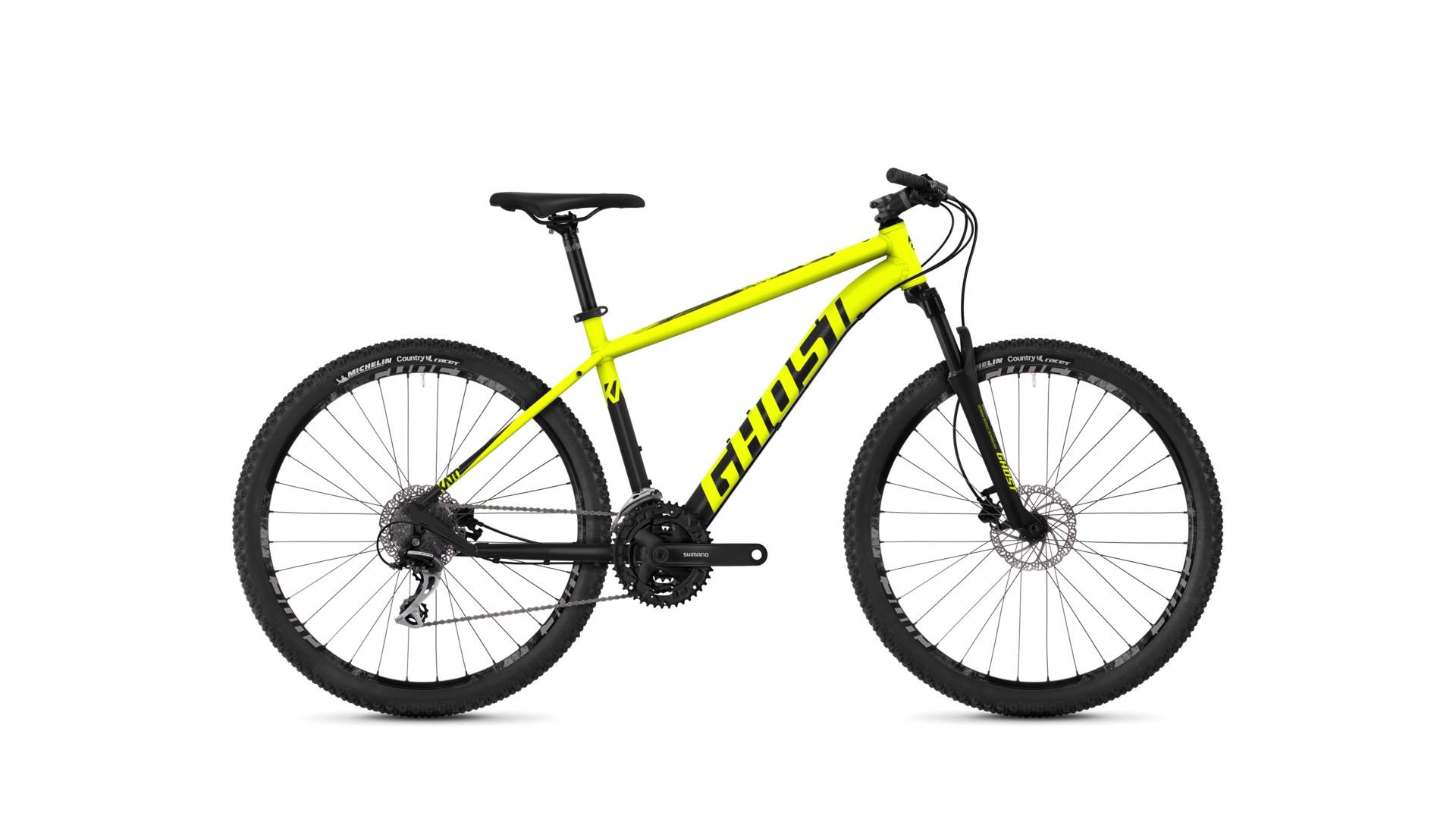 Велосипед GHOST Kato 2.9 AL U neonyellow/nightblack/urbangray год 2018