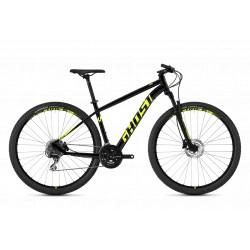 Велосипед GHOST Kato 3.9 AL U nightblack/neonyellow год 2018