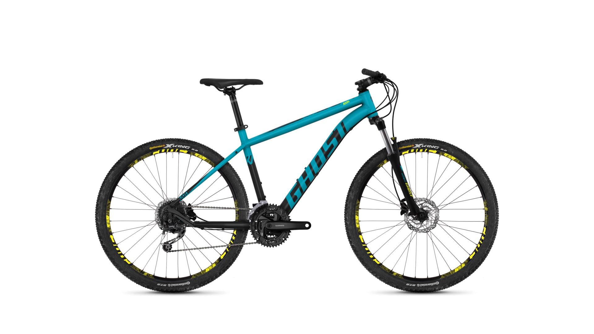 Велосипед GHOST Kato 4.7 AL U electricblue/nightblack/neonyellow год 2018