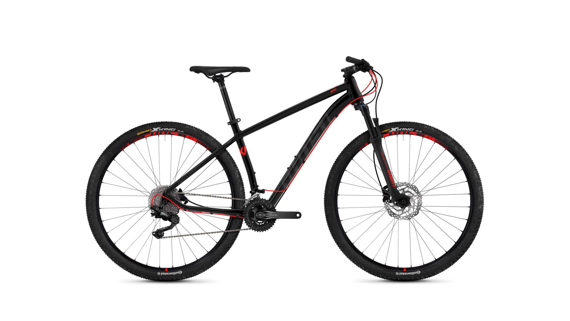 Велосипед GHOST Kato 6.9 AL U nightblack/titaniumgray/neonred год 2018