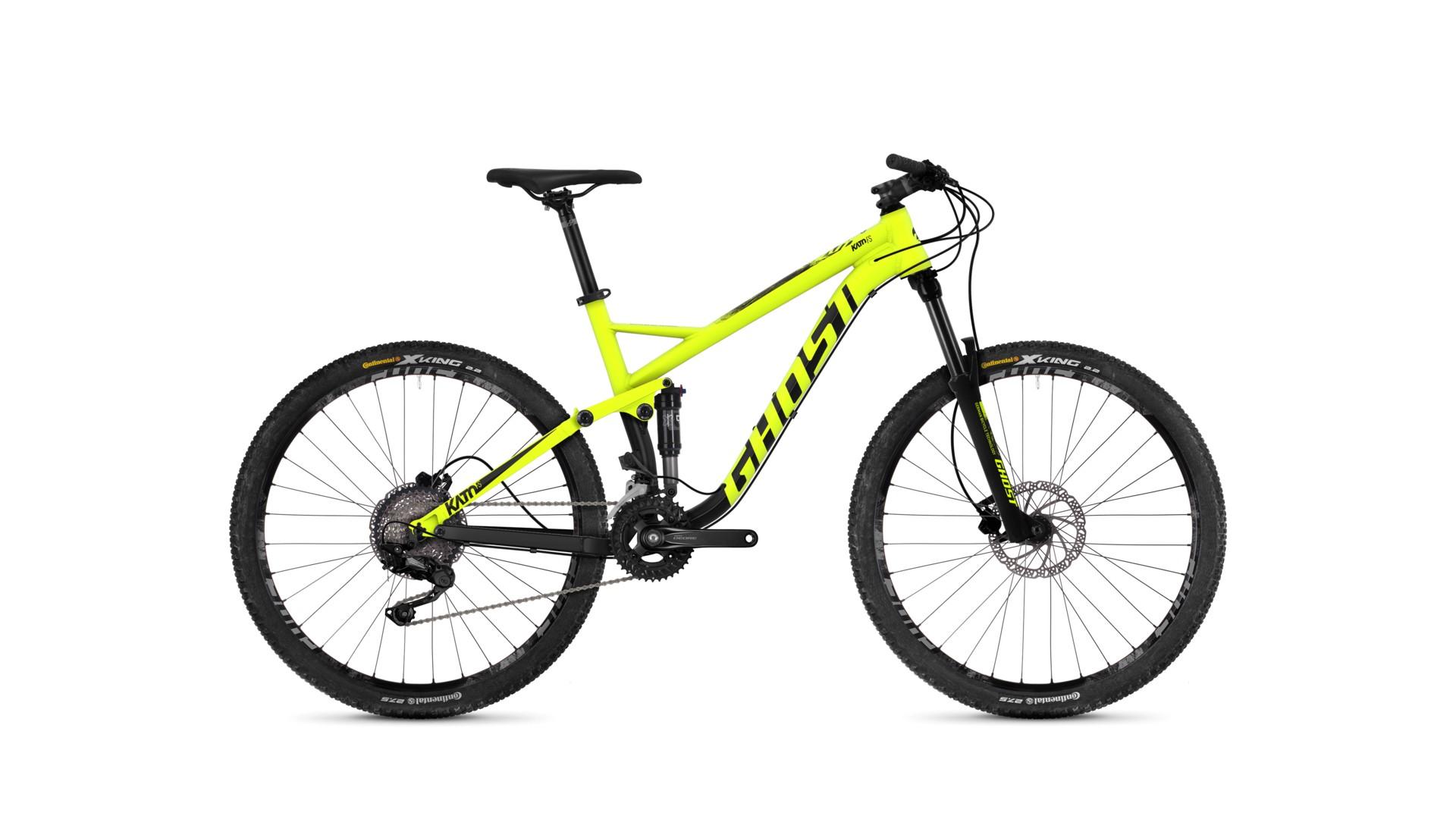 Велосипед GHOST Kato FS 2.7 AL U neonyellow/nightblack/urbangray год 2018