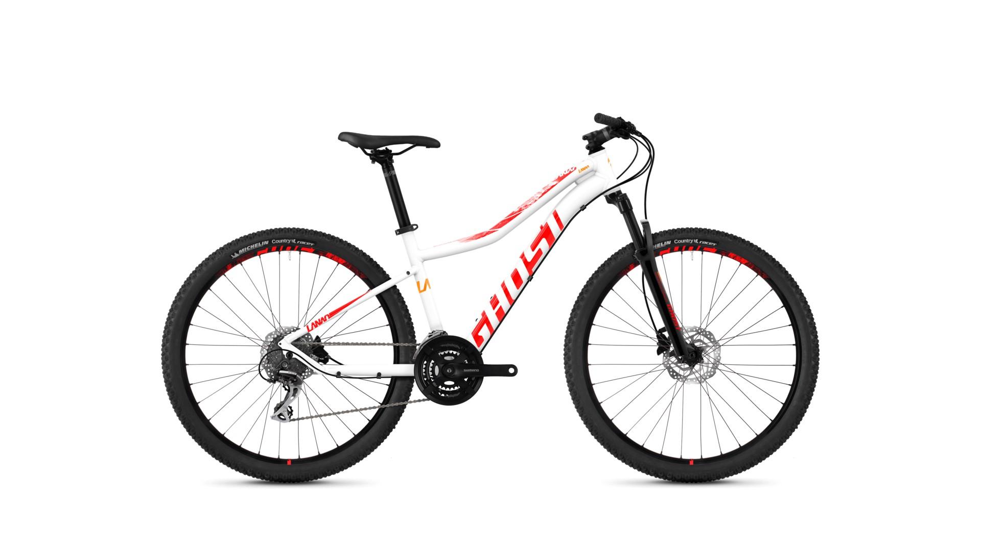 Велосипед GHOST Lanao 3.7 AL W starwhite/neonred/juiceorange год 2018
