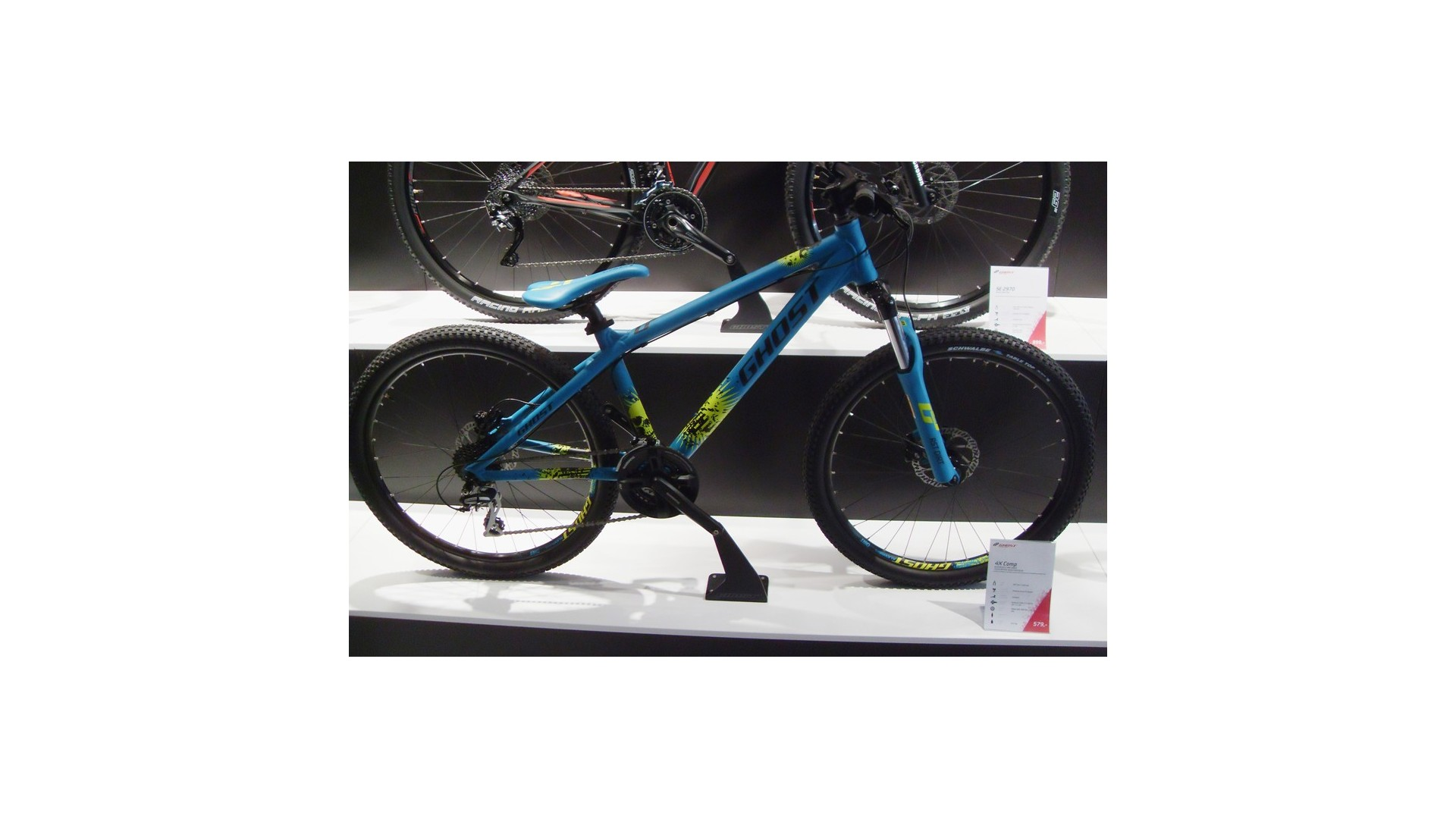 Велосипед GHOST 4-x Comp blue/black/lime green год 2014