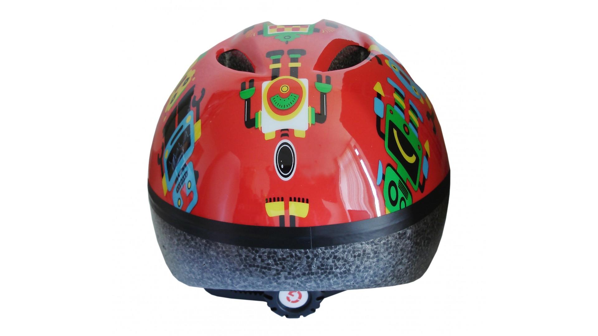 Велошлем детский Green Cycle Robots red