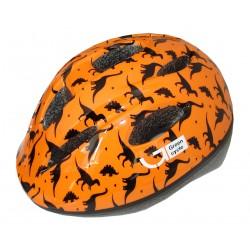 Велошлем детский Green Cycle Dino orange/black