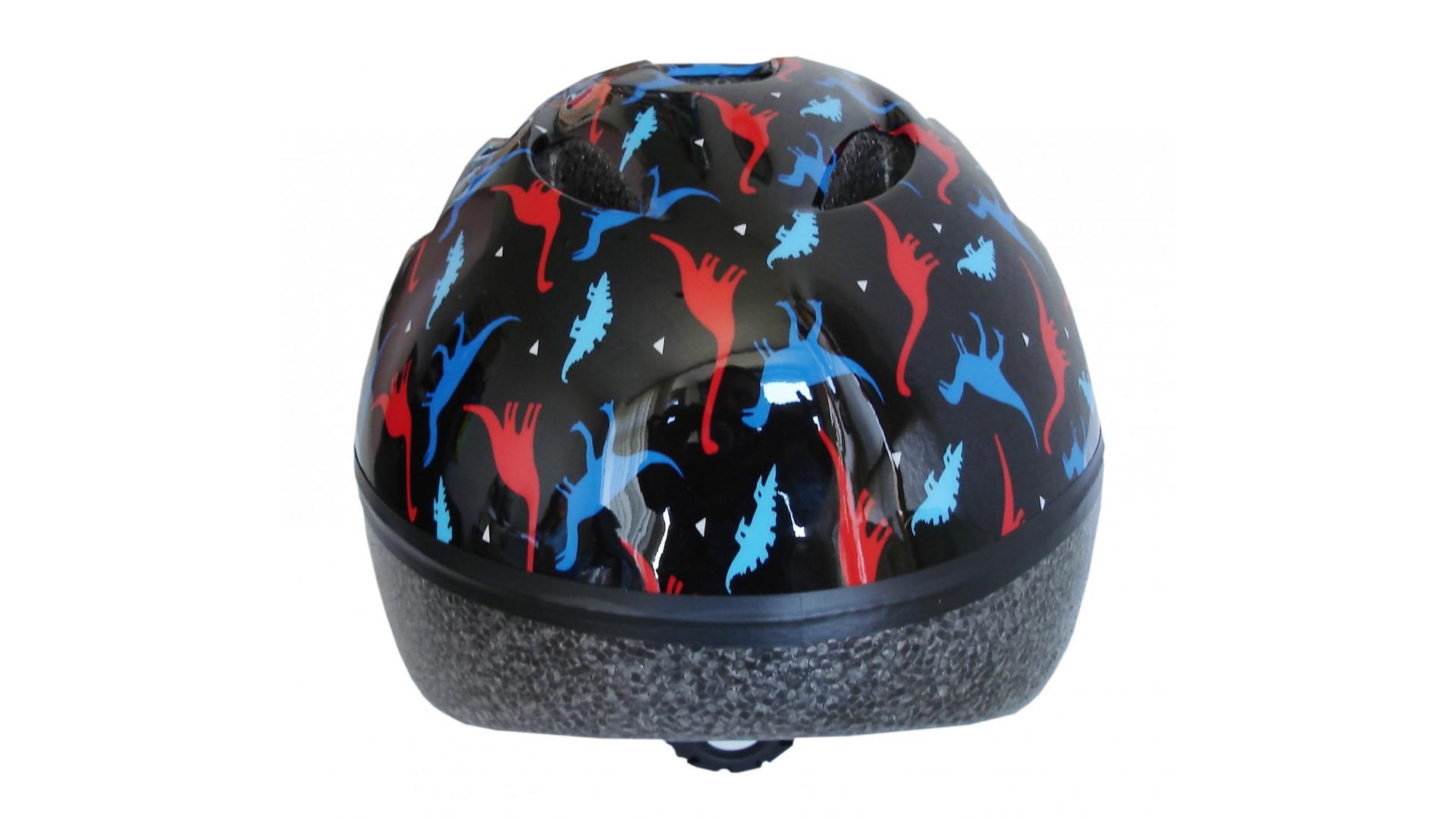 Велошлем детский Green Cycle Dino black/red/blue