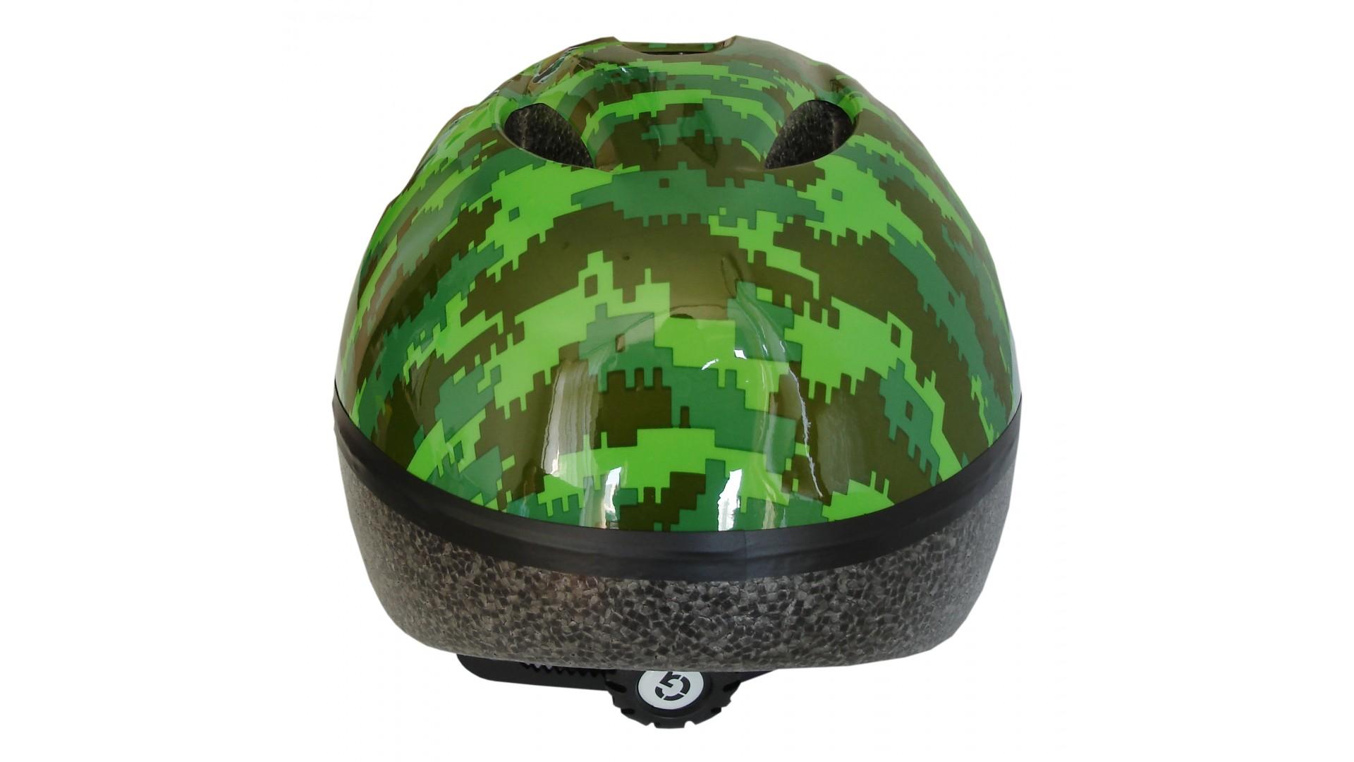 Велошлем детский Green Cycle Pixel хаки/зелёный/салатовый