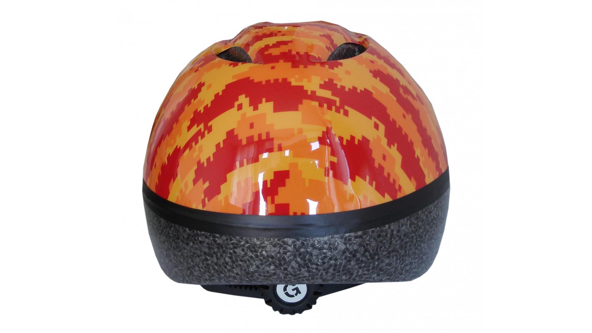 Велошлем детский Green Cycle Pixel оранжевый/красный